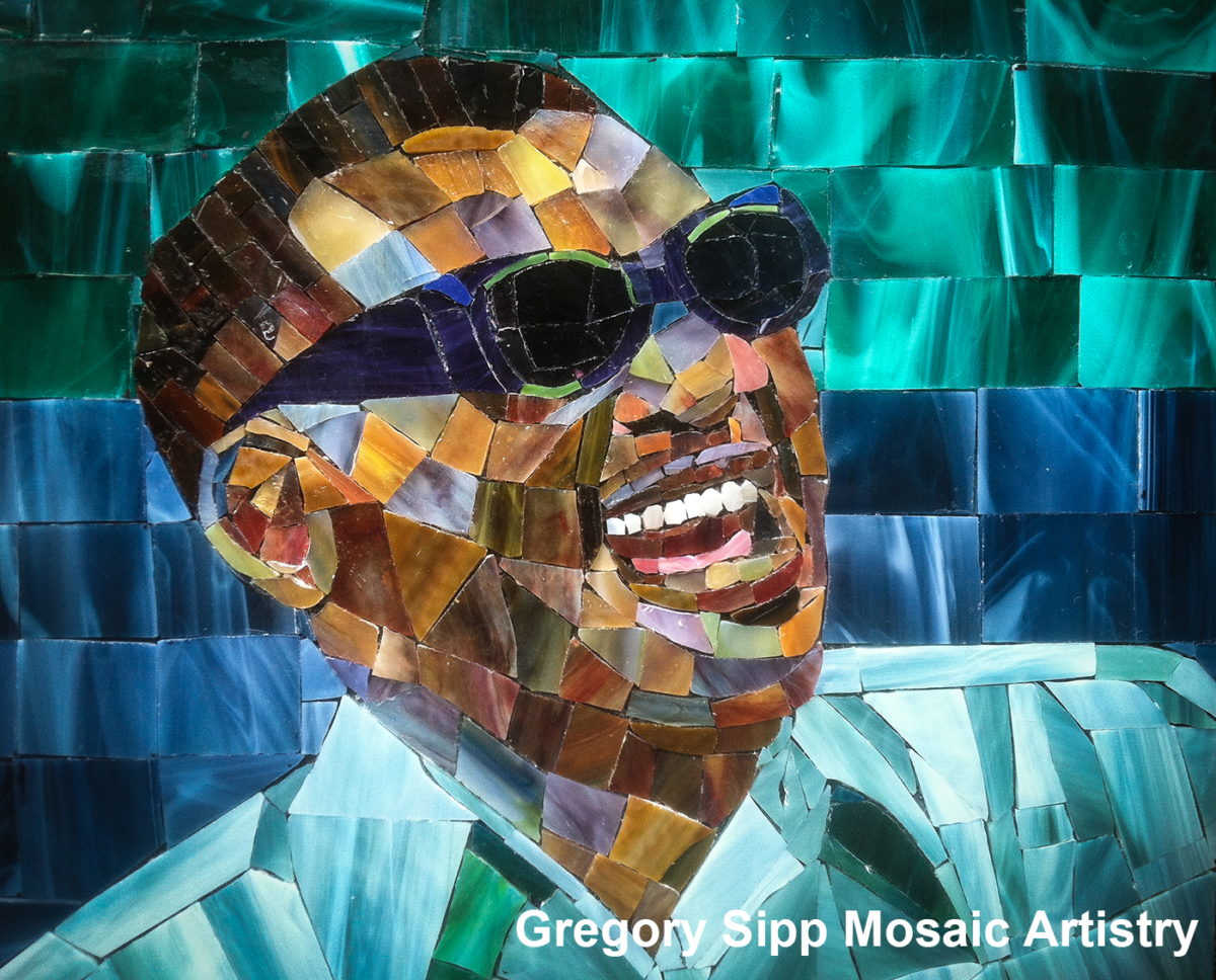 I did this mosaic of Ray Charles