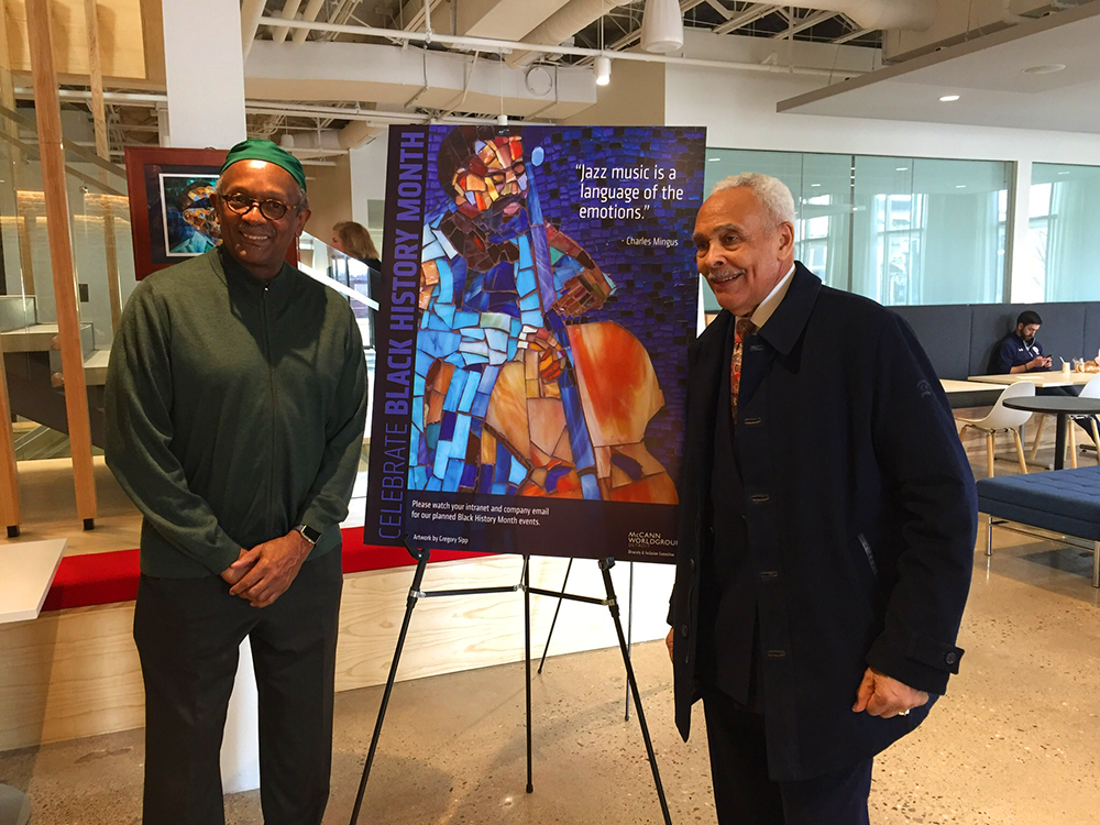 Gregory Sipp celebrates Black History month with Herbert Martin